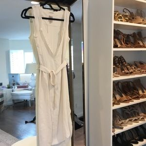 Go silk white dress